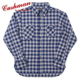 クッシュマン コットンツイード チェックワークシャツ 長袖 COTTON TWEED CHECK WORK SHIRT 25551 CUSHMAN