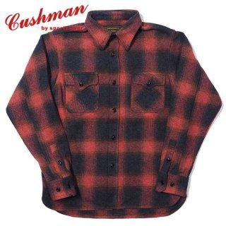 クッシュマン オンブレーチェック CPOシャツ 長袖 OMBRE CHECK C.P.O SHIRT 25553 CUSHMAN