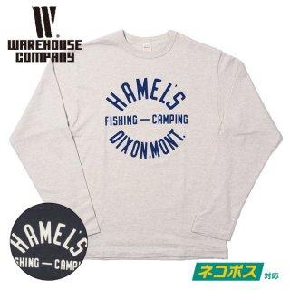 [ネコポス送料200円]ウエアハウス ロングスリーブTシャツ Lot 5906 長袖クルーネックT HAMEL'S WAREHOUSE