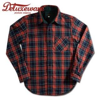 デラックスウエア ヘビー フランネルシャツ ユニオンレッド UNION RED HV-40 DELUXEWARE