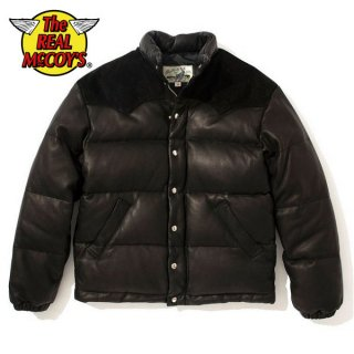 ザ リアルマッコイズ ディアスキン ダウンジャケット ブラック DEERSKIN DOWN JACKET BLACK MJ20119 THE REAL McCOY'S