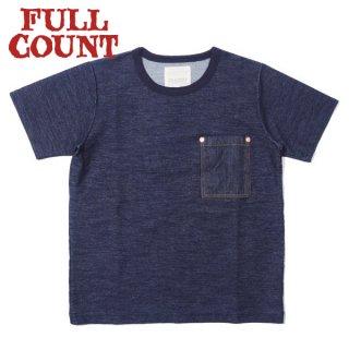 [2021年4月入荷予定]フルカウント インディゴデニムポケットTシャツ 5002 INDIGO DENIM POCKET T FULLCOUNT[2021年春夏新作]