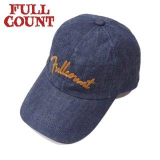[ネコポス送料200円]フルカウント チェーン刺繍 デニムキャップ 6007 CHAIN EMBROIDERY DENIM CAP FULLCOUNT