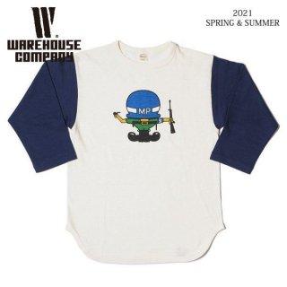 [予約商品]ウエアハウス 4800 7分袖ベースボールTシャツ MP WAREHOUSE[納期未定][2021年春夏新作 ]