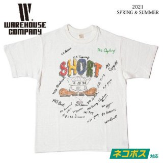 [予約商品]ウエアハウス 4601 SHORT Tシャツ WAREHOUSE[納期未定][2021年春夏新作 ]