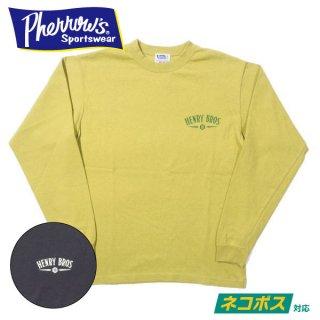 [ネコポス送料200円]フェローズ ロングスリーブ Tシャツ 長袖 HENRY BROS 21S-PLT4 PHERROWS