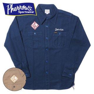 フェローズ ヘリンボーン カスタムワークシャツ FOSTER 長袖 18W-721WS-C PHERROWS