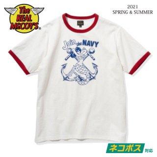 [予約商品]ザ リアルマッコイズ 半袖Tシャツ MILITARY TEE / JOIN THE NAVY MC21009 THE REAL McCOY'S[2021年春夏新作]