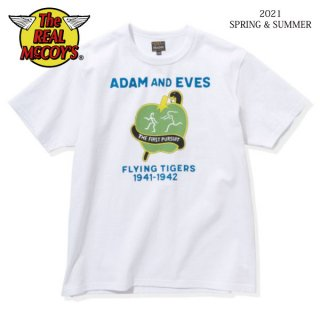 [予約商品]ザ リアルマッコイズ 半袖Tシャツ MILITARY TEE / ADAM AND EVES MC21029 THE REAL McCOY'S[2021年春夏新作]