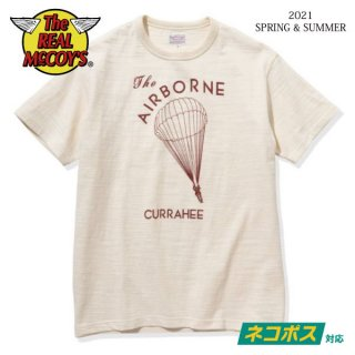 [予約商品]ザ リアルマッコイズ 半袖Tシャツ AMERICAN ATHLETIC TEE / THE AIRBORNE CURRAHEE MC21013 THE REAL McCOY'S