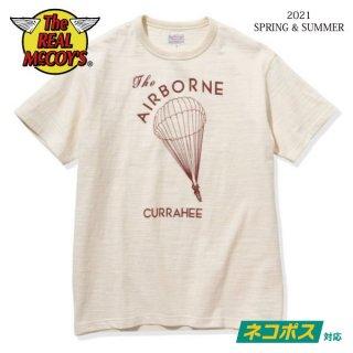 [ネコポス送料200円]ザ リアルマッコイズ 半袖Tシャツ AMERICAN ATHLETIC TEE / THE AIRBORNE CURRAHEE MC21013 THE REAL McCOY'S