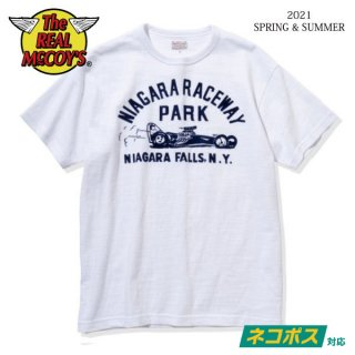 [予約商品]ザ リアルマッコイズ AMERICAN ATHLETIC TEE / NIAGARA RACEWAY PARK MC21014 THE REAL McCOY'S[2021年春夏新作]