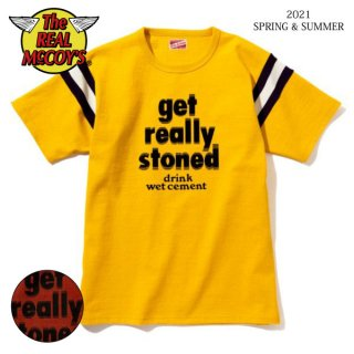 [予約商品]ザ リアルマッコイズ COTTON ATHLETIC JERSEY / GET REALLY STONED MC21027 THE REAL McCOY'S[2021年春夏新作]