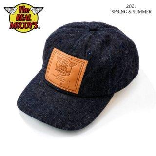 ザ リアルマッコイズ デニム ベースボールキャップ RM LEATHER PATCH DENIM BASEBALL CAP MA21010 THE REAL McCOY'S[2021年春夏新作]