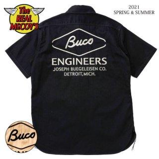 [予約商品]ザ リアルマッコイズ  半袖シャツ BUCO CLUB SHIRT S/S / ENGINEERS BS21001 THE REAL McCOY'S[2021年春夏新作]