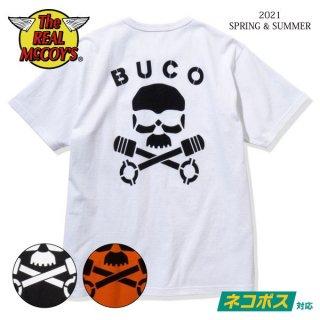[予約商品]ザ リアルマッコイズ 半袖Tシャツ BUCO TEE / SKULL PISTON BC21001 THE REAL McCOY'S[2021年春夏新作]