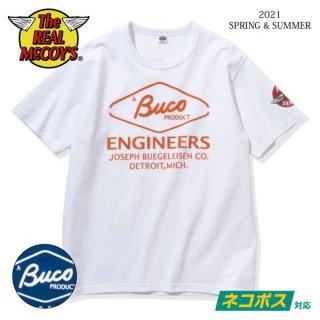 [予約商品]ザ リアルマッコイズ 半袖Tシャツ BUCO TEE / ENGINEERS BC21002 THE REAL McCOY'S[2021年春夏新作]