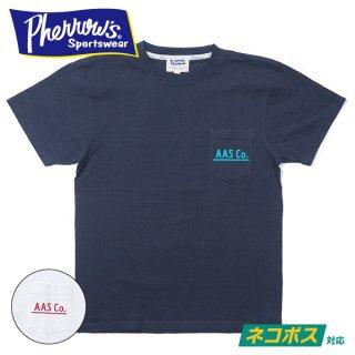 [ネコポス送料200円]フェローズ ポケット付き プリントTシャツ AAS Co. 21S-PPT1 PHERROW'S