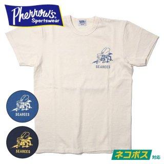 [ネコポス送料200円]フェローズ プリント Tシャツ 半袖 SEABEES 21S-PTJ4 PHERROWS
