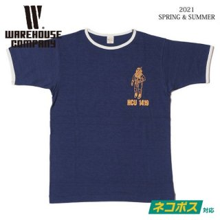 [予約商品]ウエアハウス 4059 リンガーTシャツ HCU 1419 WAREHOUSE[納期未定][2021年春夏新作 ]