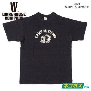 [予約商品]ウエアハウス 4601 CAMP MITIGWA Tシャツ WAREHOUSE[納期未定][2021年春夏新作 ]