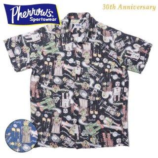 [30周年限定モデル]フェローズ TIN ROBOTS ハワイアンシャツ アロハシャツ HAWAIIAN SHIRTS 21S-TIN-ROBOTS PHERROWS