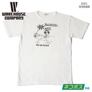 [予約商品]ウエアハウス Lot 4091 USN SKIVVY SHIRTS GUAM Tシャツ WAREHOUSE[2021年夏頃入荷分][2021年夏新作 ]