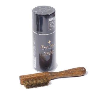 ウエスコ推奨  BOOT BLACK ラフアウトスプレー&真鍮ブラシ セット WESCO