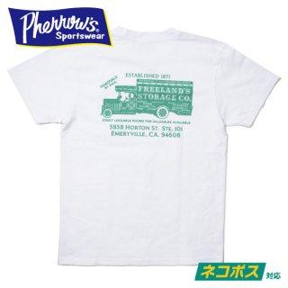 [ネコポス送料200円]フェローズ ポケット付 プリントTシャツ 21S-PPT2 PHERROW'S
