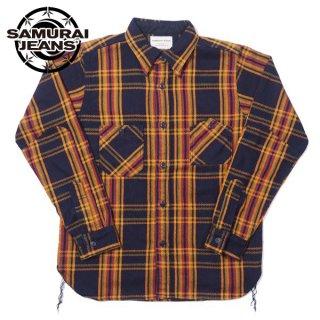 サムライジーンズ ロープインディゴ ヘヴィーネルワークシャツ SIN21-01 SAMURAI JEANS[2021年9-10月入荷予定][2021年秋冬新作]