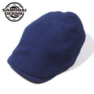 サムライジーンズ 太刺し子ハンチング キャップ 帽子 SJ301HN21-SK SAMURAI JEANS[2021年10-11月入荷予定][2021年秋冬新作]