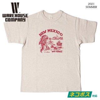 [ネコポス送料200円]ウエアハウス Lot 4601 NEW MEXICO Tシャツ WAREHOUSE[2021年夏新作]