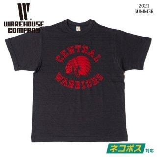 [ネコポス送料200円]ウエアハウス Lot 4601 WARRIORS Tシャツ WAREHOUSE[2021年夏新作]