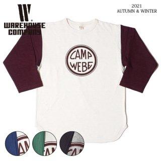 ウエアハウス Lot 4800 7分袖ベースボールTシャツ CAMP WEBE WAREHOUSE[2021年秋冬入荷分][2021年秋冬新作]