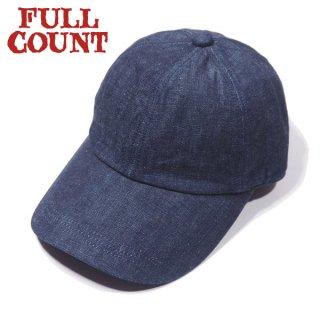 [ネコポス送料200円]フルカウント デニム ベースボールキャップ 帽子 DENIM BASEBALL CAP 6209 FULLCOUNT[定番商品]