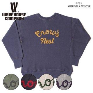 ウエアハウス Lot 401 CROW'S NEST 刺繍 セットインスウェット スエット WAREHOUSE[2021年秋冬入荷分][2021年秋冬新作]