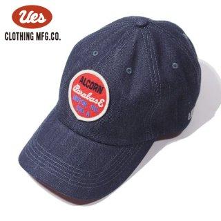 ウエス デニムキャップ ベースボールキャップ 帽子 ALCORN レッド 82DC UES
