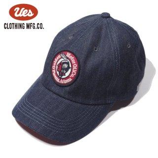 ウエス デニムキャップ ベースボールキャップ 帽子 MOTOR OIL レッド 82DC UES
