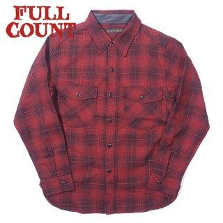[数量限定]フルカウント オンブレーチェック ウールCPOシャツ 4059-2 OMBRE CHECK WOOL CPO SHIRT FULLCOUNT[2021年秋冬新作]
