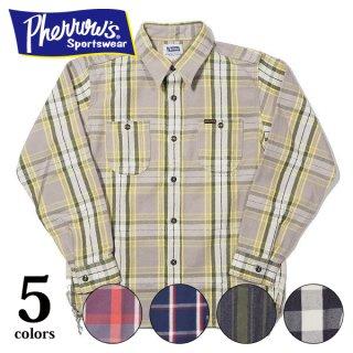 フェローズ ネルシャツ ヘビーウェイト フランネル チェック ワークシャツ FLANNEL SHIRTS 21W-720WS PHERROW'S[2021年秋冬新作]