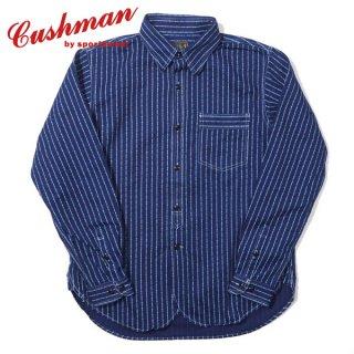 クッシュマン トランプストライプ ウォバッシュ ワークシャツ WABASH WORK SHIRTS 25562 CUSHMAN[2021年秋冬新作]