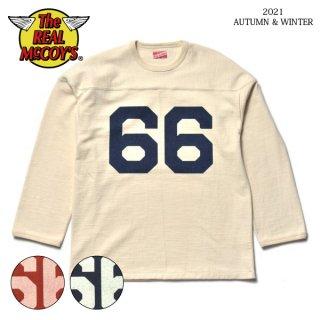 ザ リアルマッコイズ フットボールTシャツ FOOTBALL TEE / 66 MC21111 THE REAL McCOY'S[2021年秋冬入荷分][秋冬新作]
