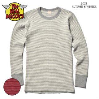 ザ リアルマッコイズ サーマル 長袖Tシャツ WAFFLE STRIPE THERMAL SHIRT L/S MC21116 THE REAL McCOY'S[2021年秋冬新作]