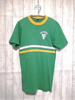 古着 champion リンガーTシャツ チャンピオン /S gleen 緑