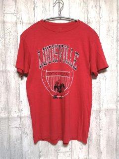 古着 CHED by anvil Tシャツ USA製/L red 赤 チェド 80s