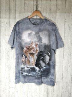THE MOUNTAIN ザ・マウンテン 猫Tシャツ M アニマル 動物 CAT ねこ
