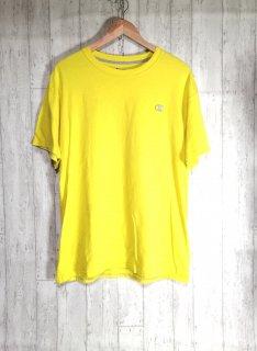 chmpion チャンピオン Tシャツ XL 黄色 イエロー ビッグサイズ オーバーサイズ 刺繍ロゴ ワンポイント