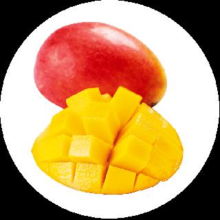 【送料込み/家庭用】冷凍完熟マンゴー1kg(皮付き半身真空パック)