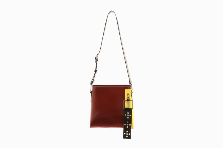 【40% OFF】MIDIUM EYELETED SHOULDER BAG BURGANDY