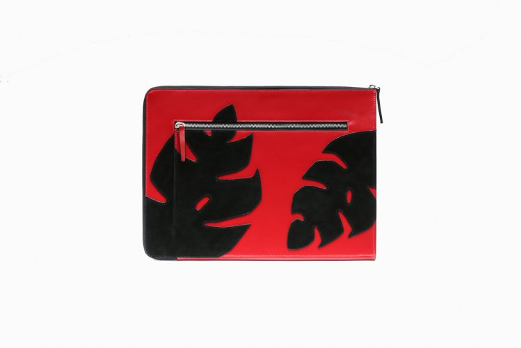 【40% OFF】MONSTERA PATCHED CLUTCH RED